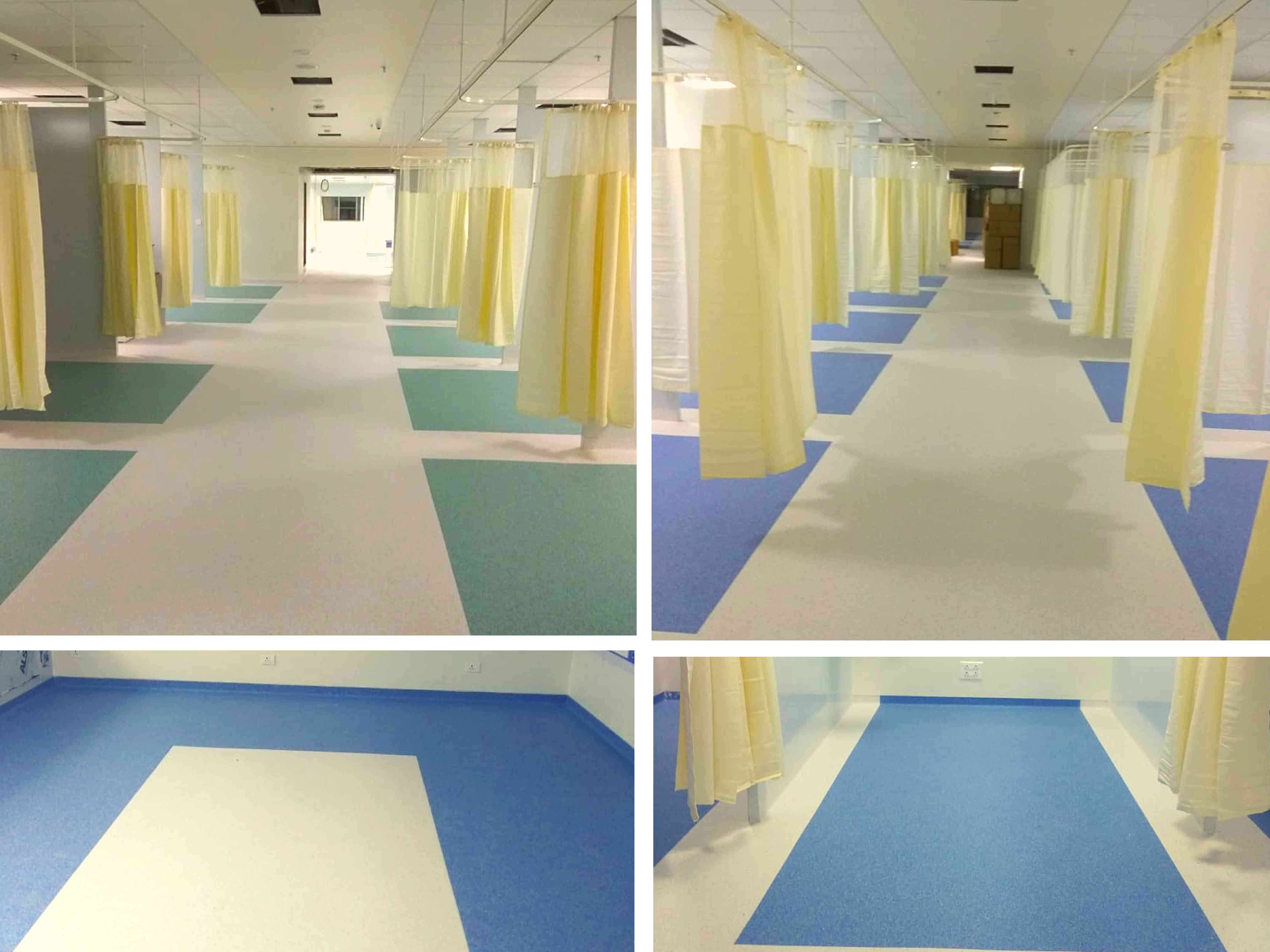 Homogeneous vinyl flooring of saideep Healthcare collage By indiana flooring
