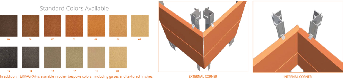 Terracotta Facade - terragraf out door , terracotta wall a product of indiana